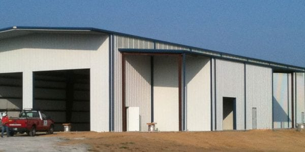 Acadian Contractors Blast and Paint booth building construction