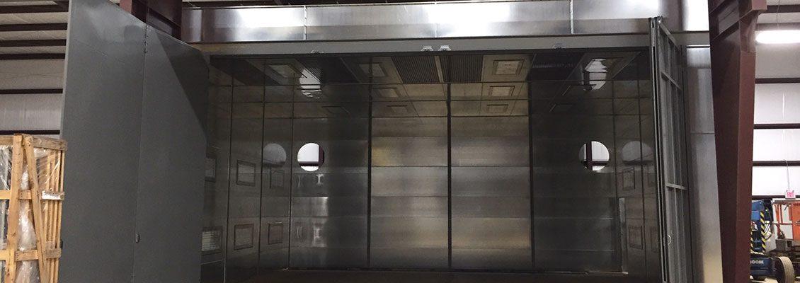 ville platte iron works blast booth installation